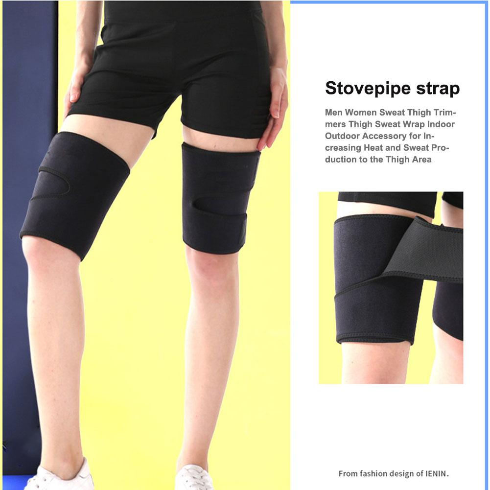 Купить с кэшбэком 1 Pair Men Women Sweat Thigh Trimmers Thigh Sweat Wrap For Increasing Heat Sweat Production To Thigh Area Relieves Muscle