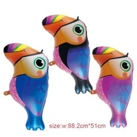 1pc woodpecker aluminum balloon birthday party decorations kids childrens day holiday gift decoration baby shower bird balloons