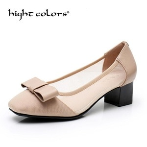 Summer new refreshing breathable shallow mouth single shoes women mesh large size 43 elegant square head hollow women's flats