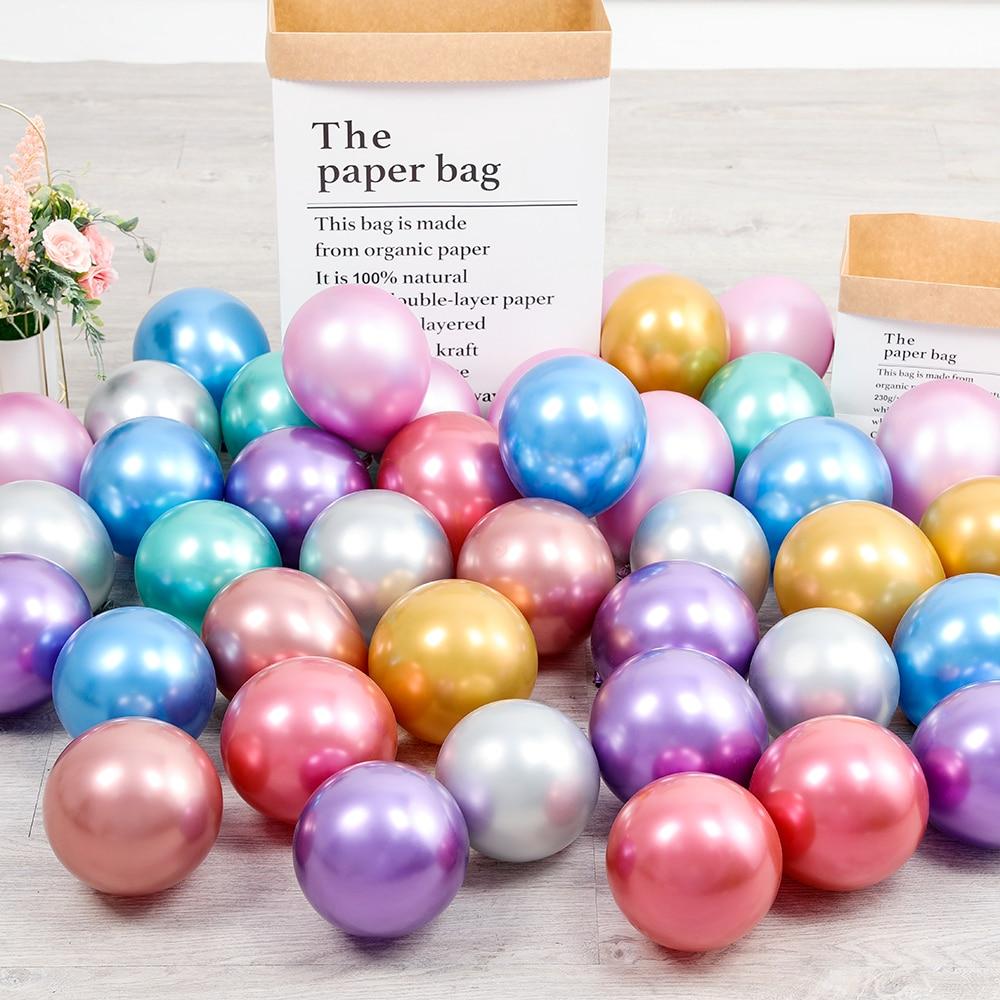 1 Набор 50 шт 5/10 дюймов новые хромированные шары из латекса цвета металлик металлические глобусы надувные гелиевые шары для дня рождения Декор баллон-5