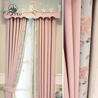 as mermaid lace full shading pink girl princess style cartoon childrens room simplicity curtains for living dining room bedroom