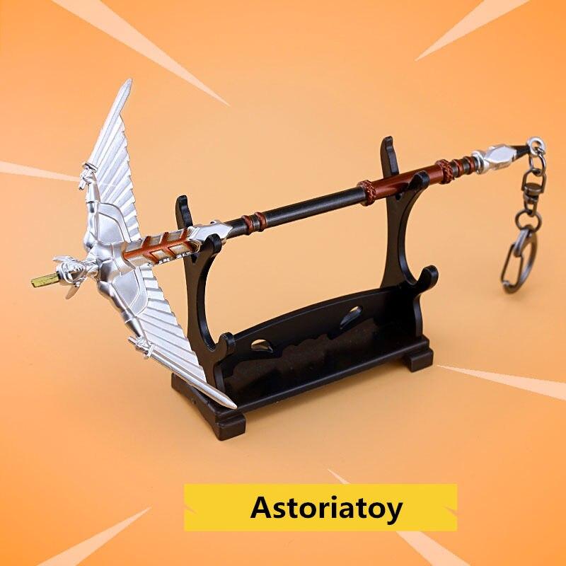 Batalha royale brinquedo modelo a vara da monarquia chaveiro liga armas crianças brinquedo coleção decoração