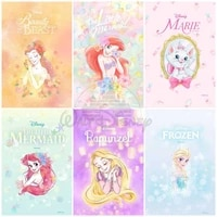 disney cartoon character series princess pooh bear poster diy 5d diamond painting embroidery mosaic wall decor gift