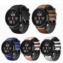 Bracelet de montre en cuir 22mm pour Huawei GT montre en cuir bracelet de montre 22mm hommes pour Huawei GT montre pour Samsung Galaxy montre 46mm bandes