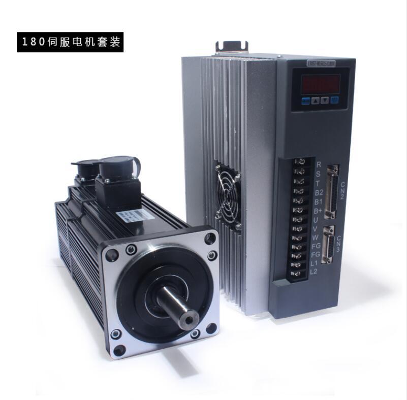 3KW وحدة محرك معزز 40A 180ST-M19015 عالية الطاقة محرك سيرفو 19N.M 1500 rpm مع سائق سيرفو