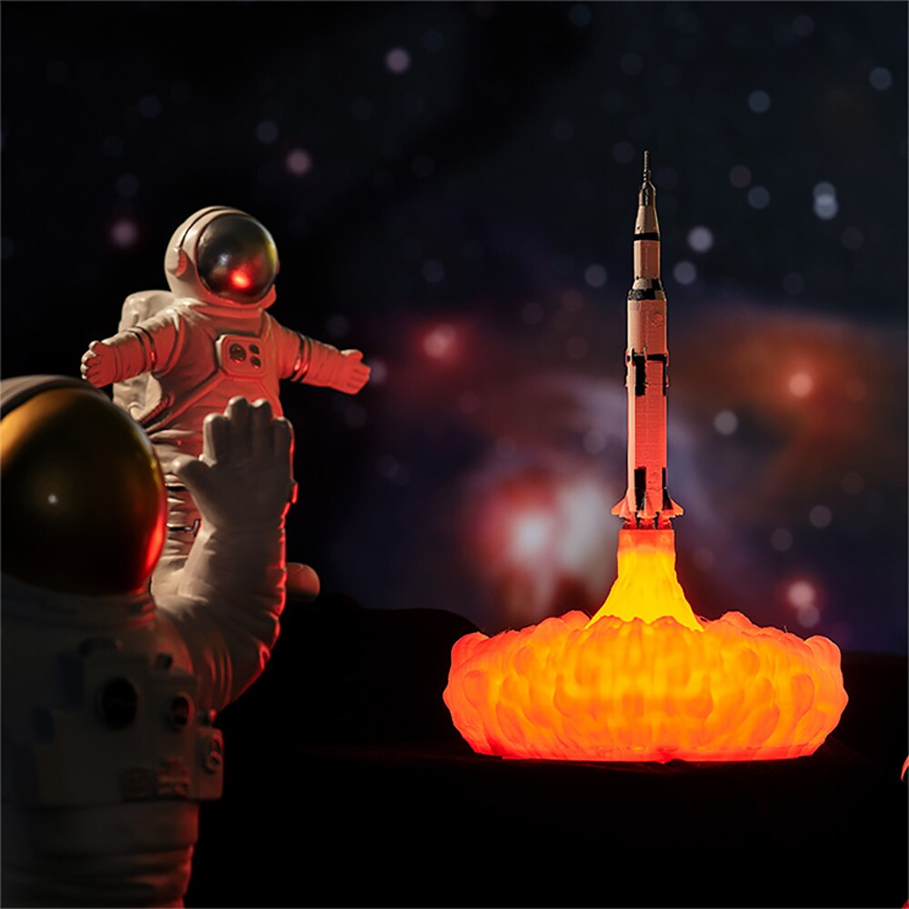 3D Print Space Shuttle Light Rocket Light USB For Space Lover Desk Study Table Night Lamp Decoration Creative Model Lamp Gift