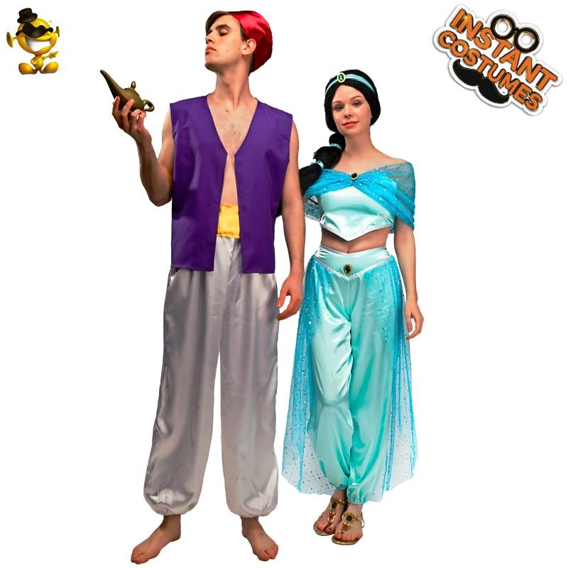 Хэллоуин Аладдин принц и костюм принцессы для костюмированного представления арабский Аладдин костюмы для взрослых