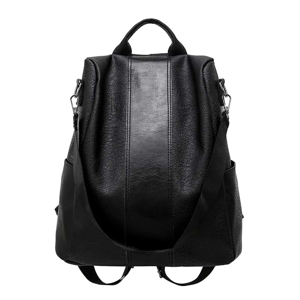 Feminino anti-roubo mochila clássico couro pu cor sólida mochila canta moda bolsa de ombro feminina # s11
