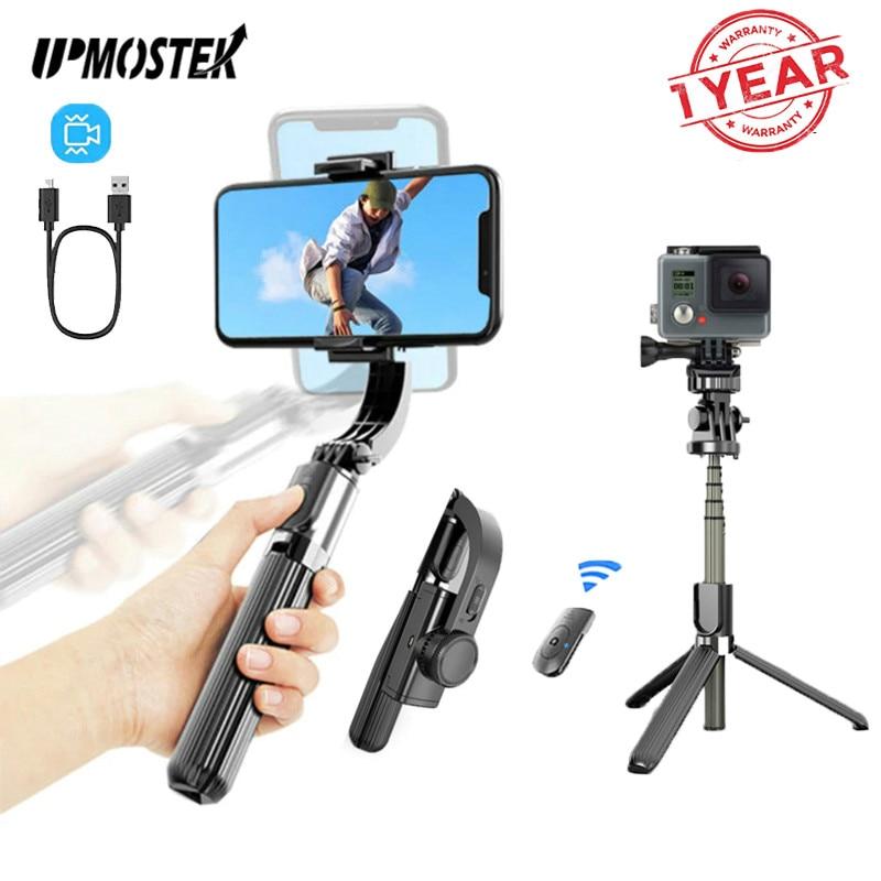 UPMOSTEK-L08 Selfie Stick ، مثبت Gimbal ، حامل ثلاثي للهاتف ، كاميرا أكشن ، مع جهاز تحكم عن بعد بلوتوث ، للهواتف الذكية ، Gopro