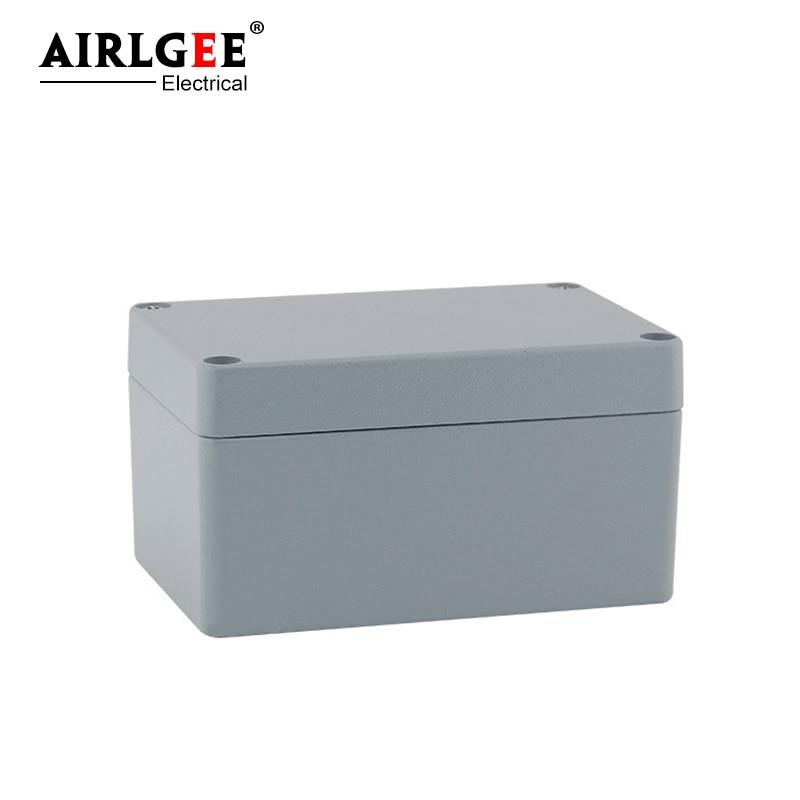 غلاف معدني كهربائي مقاوم للماء ، صندوق توصيل ، صندوق تحكم للكابلات ، متعدد الوظائف ، صب الألومنيوم ، 150 × 100 × 80 مللي متر