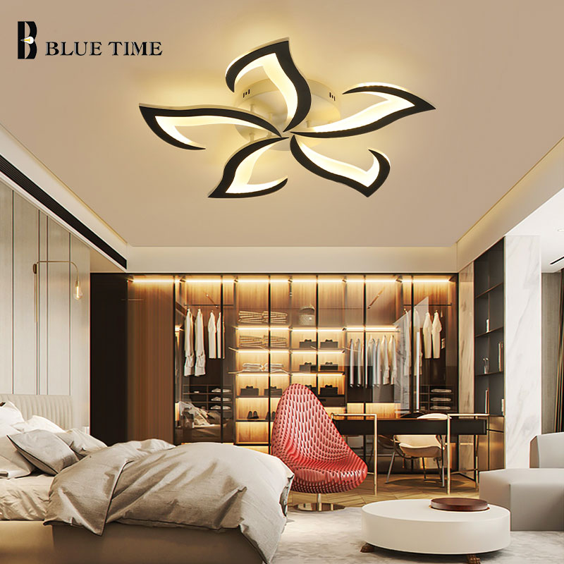 Dimmable with remote Modern Led Ceiling Light For Living room Bedroom Dining room Kitchen Indoor Ceiling Lamp Acrylic Fixtures botimi modern led ceiling lights wooden square ceiling lamp with dimming remote for living room dining light wood bedroom lamps