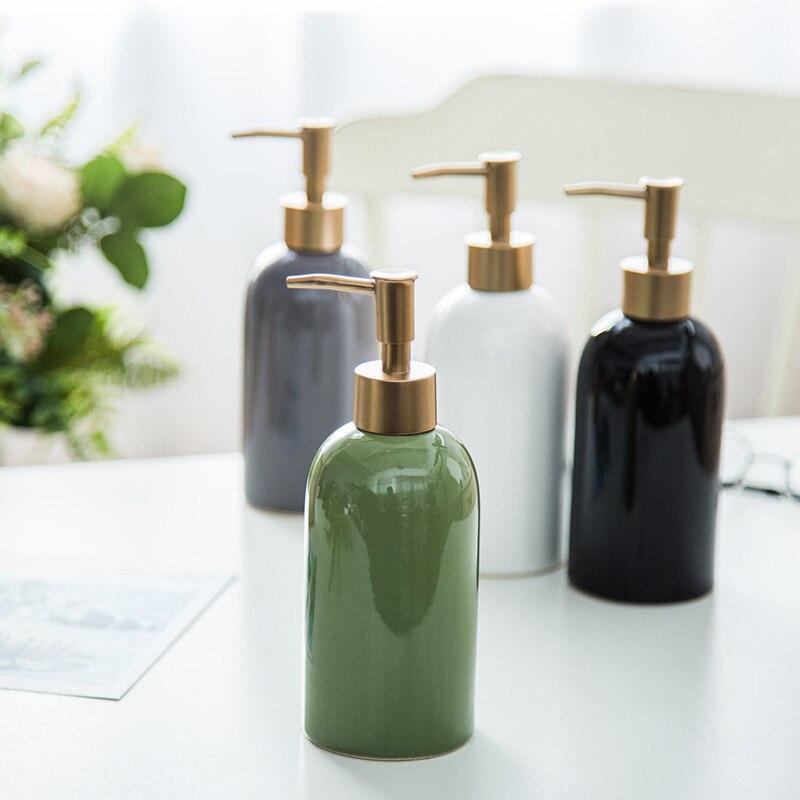 Cerâmica Desinfetante Garrafa Banheiro Criativo Sub Engarrafamento Hotel Shampoo Chuveiro Gel Imprensa Mão