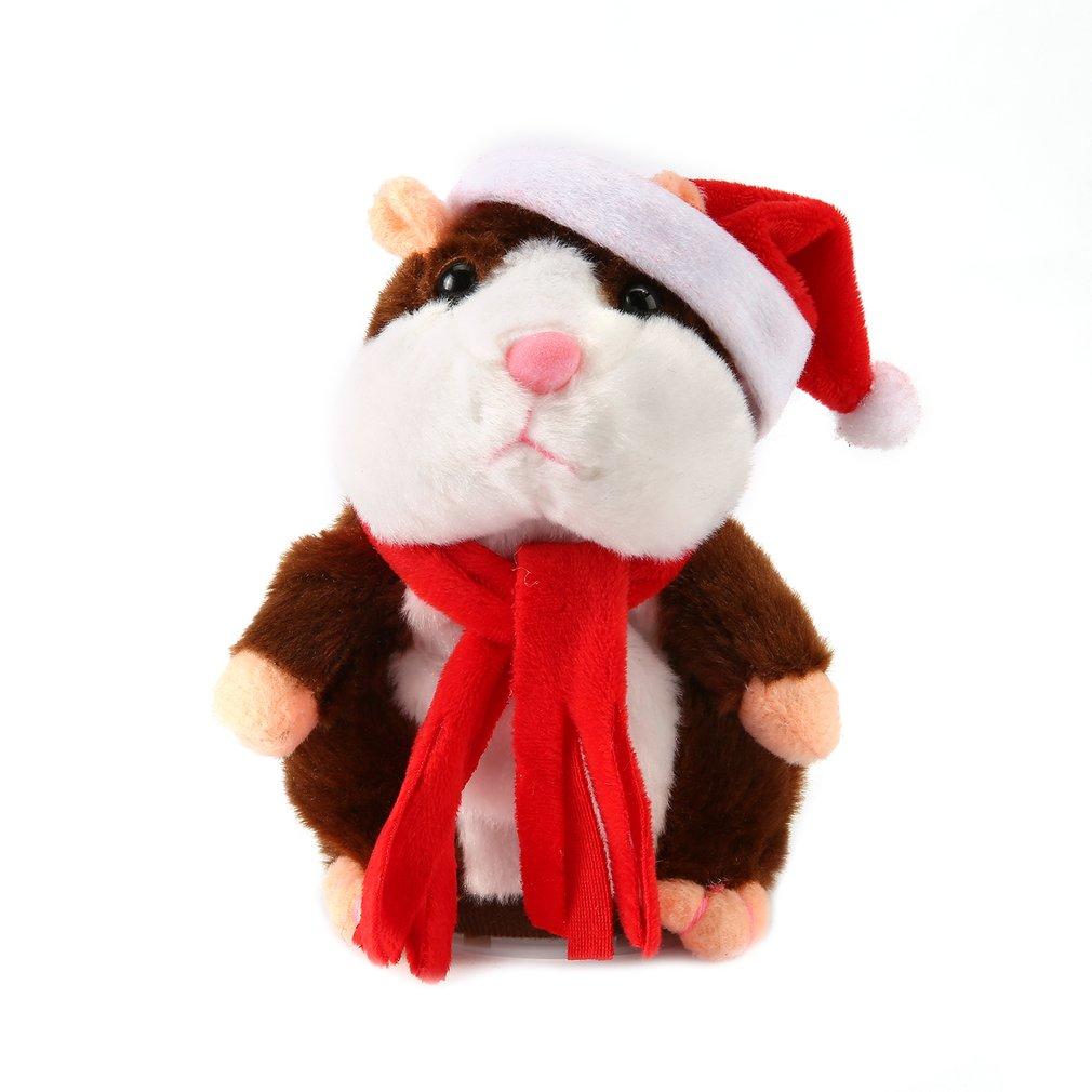 16/18cm divertido hámster parlante ratón mascota peluche juguete Nodding caminar sonido grabación hámster Animal relleno niños juguete para regalo educativo