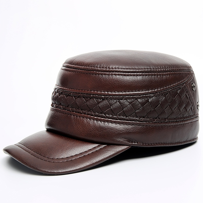H3511-قبعة واقية من جلد البقر للرجال ، قبعة واقية من جلد البقر للرجال ، عالية الجودة ، غير رسمية وعصرية