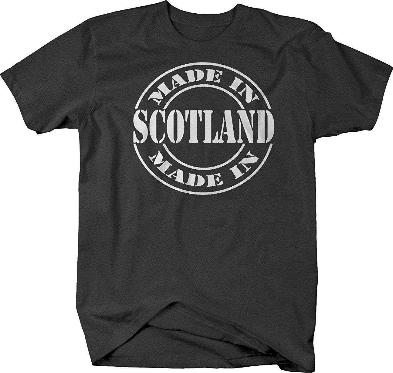 Hecho en Escocia, camiseta de círculo escocés Gaelic, camisetas casuales para adultos, Camiseta 100% de algodón