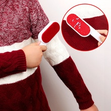 Double sided Clothes Lint Remover Magic Static Brush Clothes Hairbrush Reusable cleaning brush Cat d