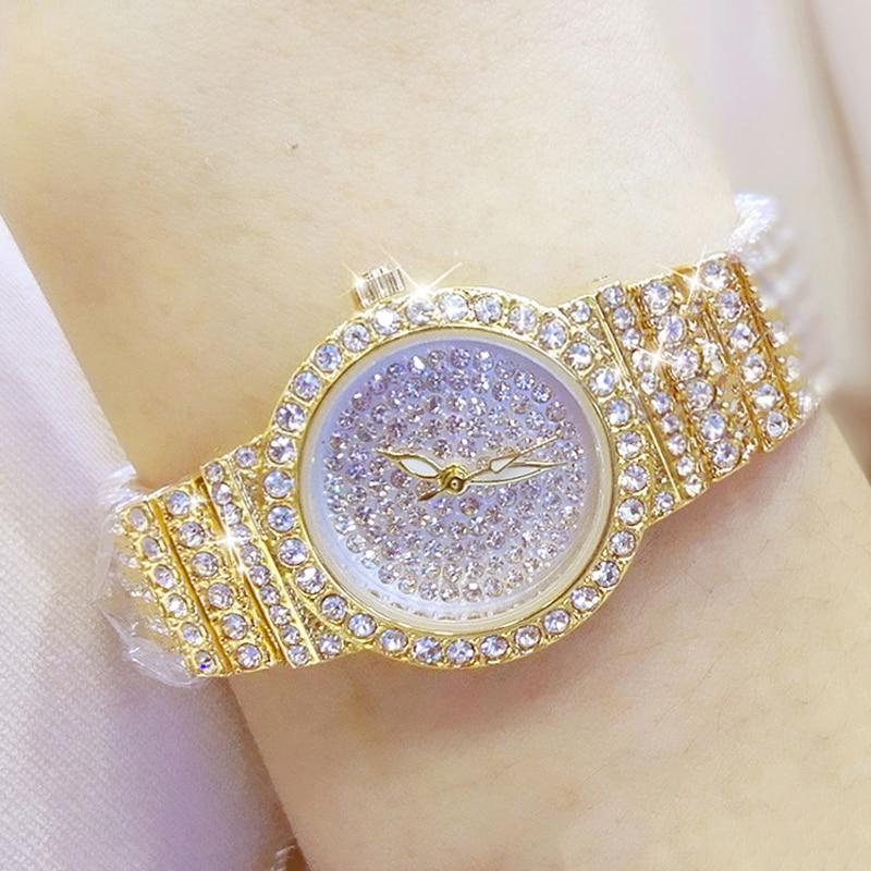 Luxury Women Watches Elegant Diamond Dress Watch Ladies Wrist Watches Rose Gold Watch Small Wristwatch Relogio Feminino