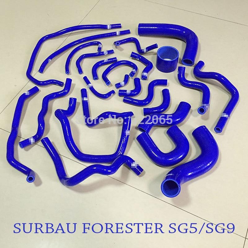 طقم خرطوم سيليكون عالي الأداء ، أنبوب مشعاع لـ SUBARU ، FORESTER ، SG5/SG9 ، 1998-2008YEAR ، أزرق
