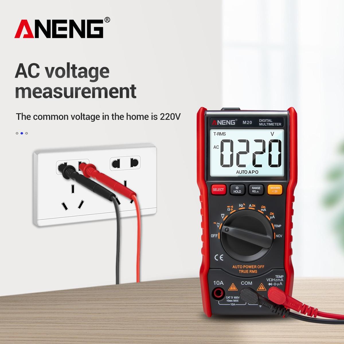ANENG-multímetro Digital M20 6000 Tester de conteo, Esrmeter, multímetro analógico Digital profesional...