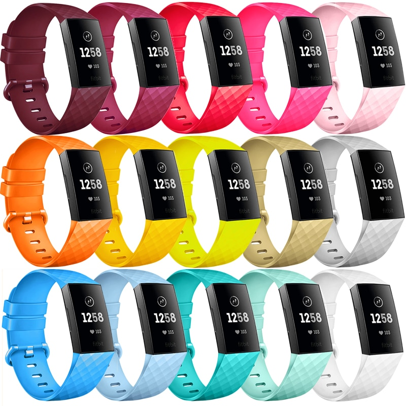 Ремешок для Fitbit Charge 3 SE, Сменные аксессуары, силиконовый браслет для часов, браслет для Fitbit Charge 3 4 Small Larg