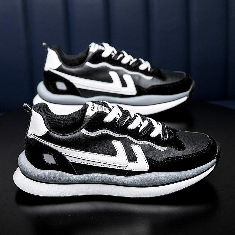 2021 الربيع و الصيف حذاء كاجوال الرجال منخفضة أعلى الدانتيل متابعة أحذية رياضية المد الذكور مريحة موضة اللون مطابقة أحذية رياضية
