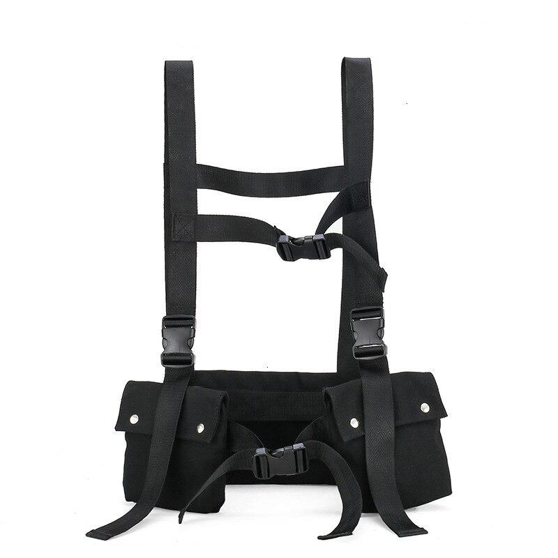 Bolsa de pecho de moda Streetwear Kanye Hip Hop Oxford para hombre bolsa de pecho militar bolsas de pecho emerson paquete negro de la cintura