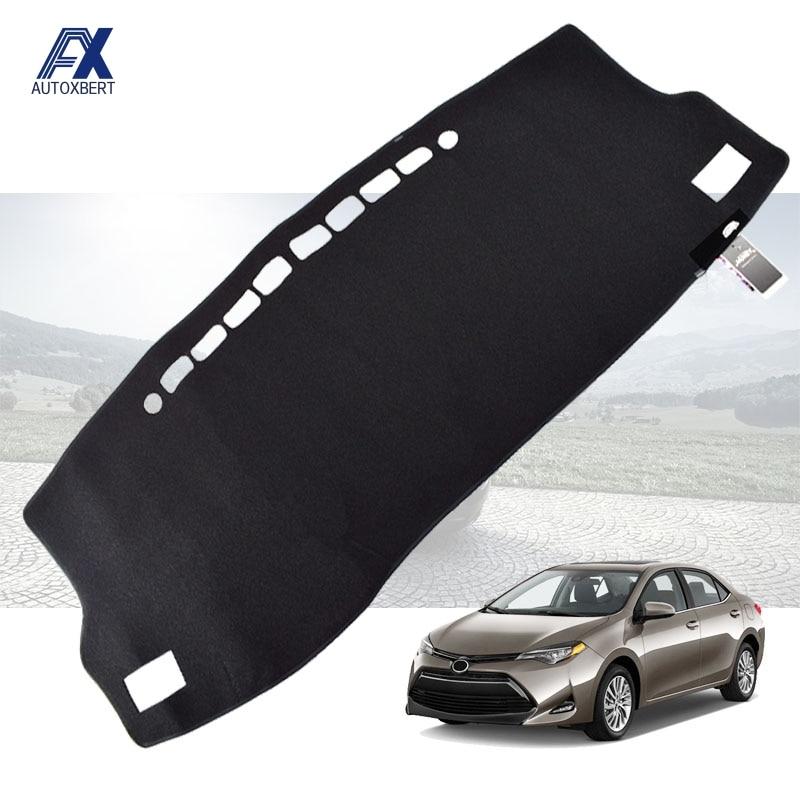 Xukey para Toyota Corolla estoy Auris E170 E180 2014, 2015, 2016, 2017, 2018 salpicadero tablero cubierta Dash Mat Pad sombra de sol alfombra