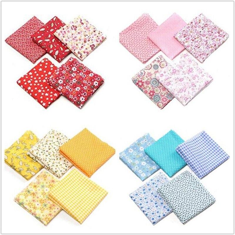 7 Uds tela de costura tela de algodón impresa para costura DIY trabajo de aguja acolchado Patchwork Material hecho a mano suministros para el hogar