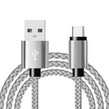 Charge rapide type-c USB C câbles de téléphone portable 1M/2M/3M USB C câble Charge rapide pour xiaomi Samsung Huawei Nylon tressé câble