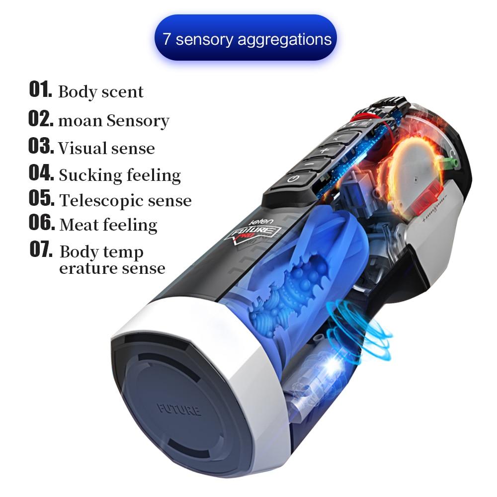 Leten Fully Automatic Masturbator Telescopic Constant Temperature Male Aircraft Cup Sex Toy For Man Realistic Vagina Masturbador