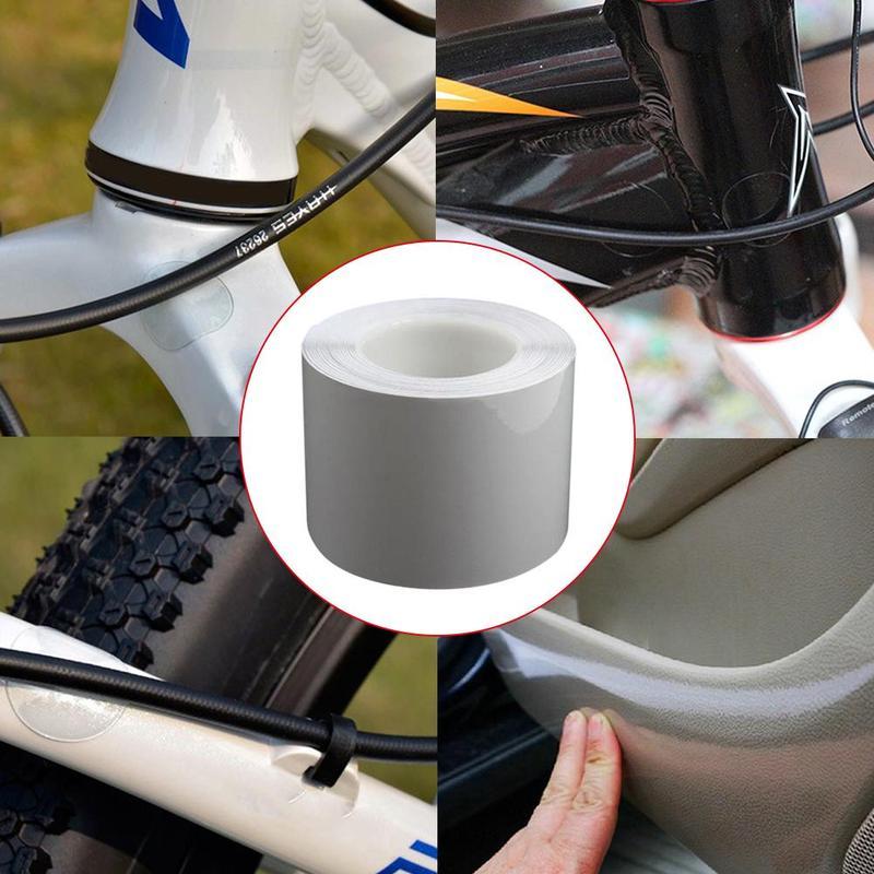 15*100cm bicicleta marco Protector claro usar cinta de superficies película Anti frotar fijado etiqueta ciclo marco Protector etiqueta engomada