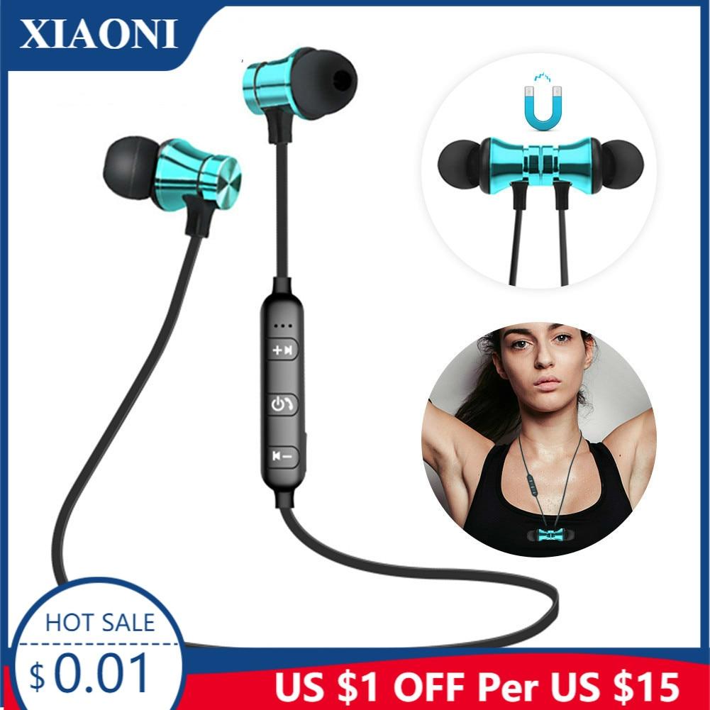 Xiaoni novos fones de ouvido sem fio bluetooth esporte magnético fone de ouvido para iphone xiaomi huawei honor samsung redmi