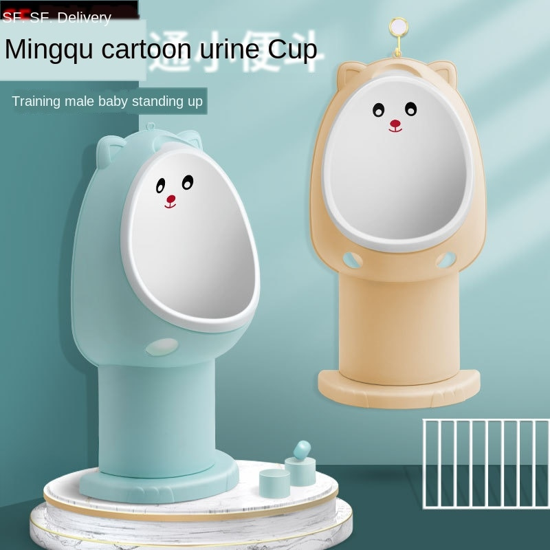 Portable Toilet Potty Training for Babys Standing Urinal Cute Cartoon Owl Adjustable Base Height Hangable 1-6Ys Toddler Boy Toys