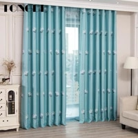 tongdi blackout curtains elegance floral printing high grade decoration for home hotel christmas party bedroom living room