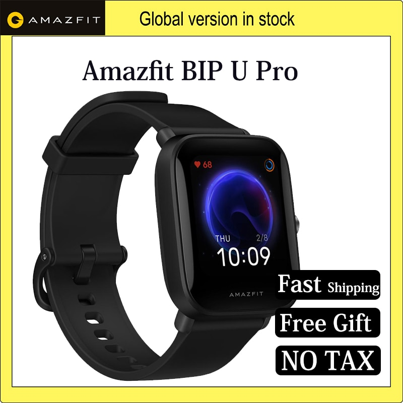 Global Amazfit Bip U Pro GPS Smartwatch 1.43 inch 50 Watch Faces Color Screen 5 ATM 60+ Sports Mode Heart Rate Tracking