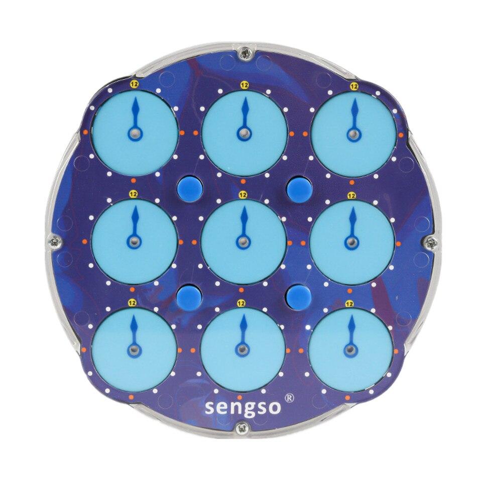 Shengshou posicionamento magnético relógio mágico cubo transparente azul abs profissional magia relógio de inteligência engrenagem brinquedos das crianças