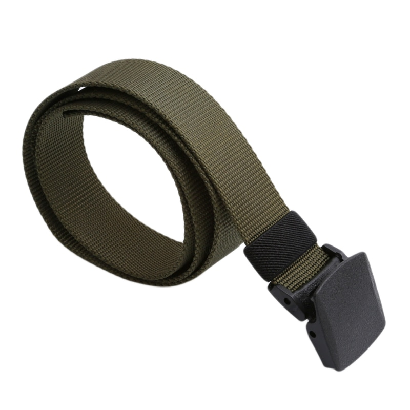 ¡Novedad de 2020! cinturón táctico de nailon militar para exteriores con hebilla de rappel Color negro