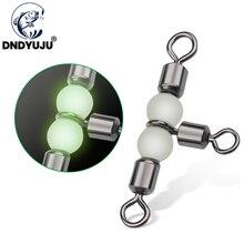 DNDYUJU 5/10PCS Solide Ring Angelgerät Zubehör ausrüstung Angeln Rollen Triple Schwenkt Lager Stecker Angelhaken