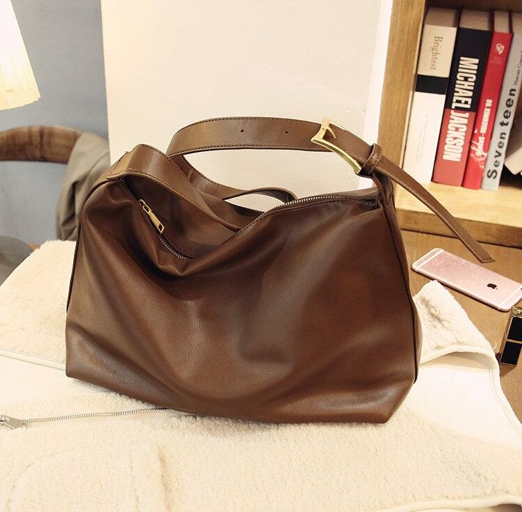 المرأة 2021 تتجه الجدة بولي leather جلد لينة أسود بني رمادي حقيبة كتف واحدة للإناث بسيطة اليومية السببية موجز حقيبة