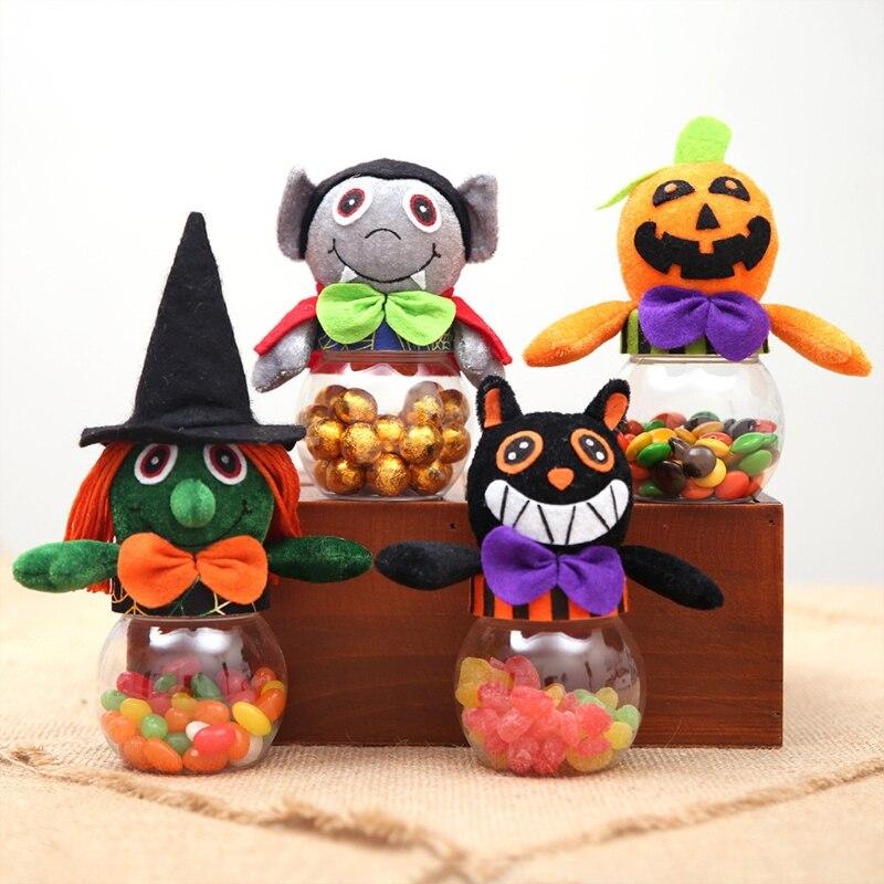 T5EC 4x коробки для подарков на Хэллоуин, пластиковые подарочные коробки для конфет, коробки для подарков на Хэллоуин, мини креативные детские ...