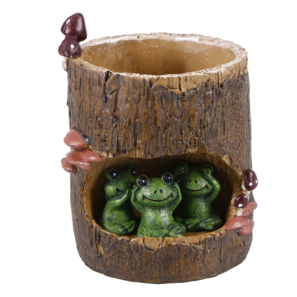 Linda rana verde flor sedón suculenta maceta Bonsai maceta caja lecho de planta Oficina maceta para jardín de casa decoración oso conejo