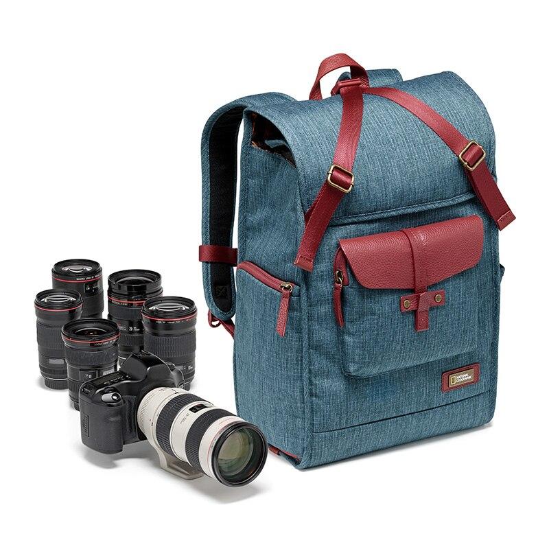 Кожаная сумка для фотоаппарата National Geographic NG AU5350, вместительная сумка для ноутбука, дорожная сумка для цифровой видеокамеры