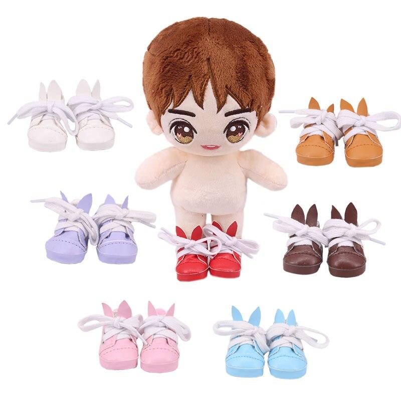 Muñeca de 5 Cm, Mini Orejas de conejo, zapatos para muñeca americana de 14,5 pulgadas y BJD EXO, accesorios para ropa de muñeca DIY rusa, generación, juguete para niña