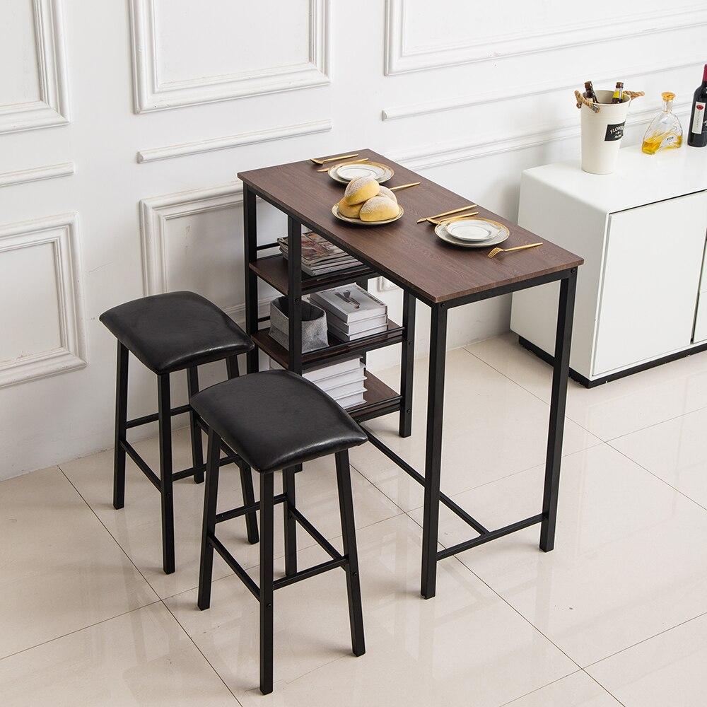 Фото - Барный стол набор из ПВХ древесины трехслойная рамка для пары барный стол мягкая сумка барный стул (один стол и два стула) [магазин сша] кованый железный стеклянный высокий барный стол патио барный стол черный