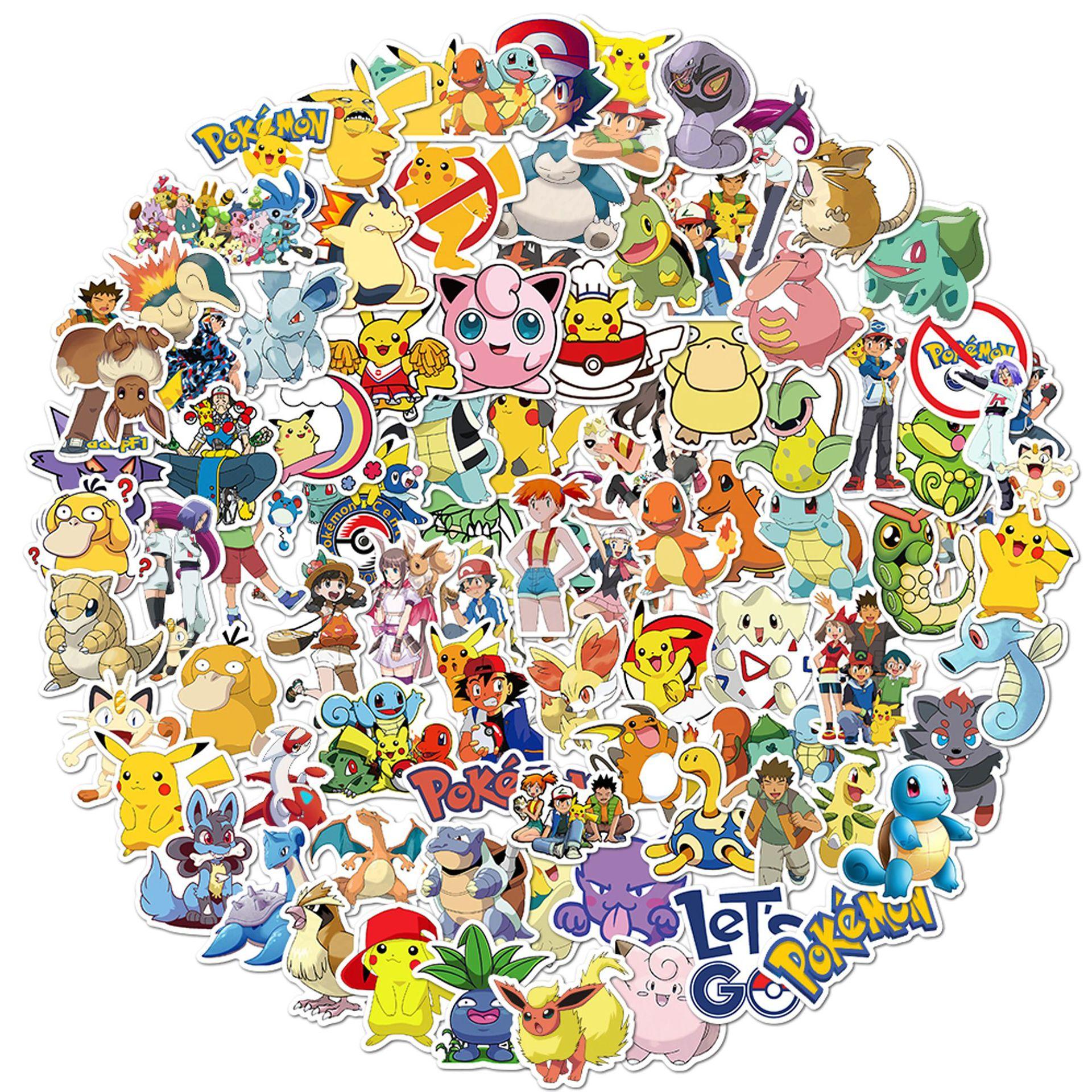 50-100-pz-pacco-pokemon-giappone-adesivi-anime-su-bicicletta-frigorifero-laptop-moto-pikachu-graffiti-per-bambini-regalo