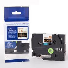 24 мм Tze354 золото на черном TZ354 этикетка лента совместима для Brother P сенсорный принтер 24 мм TZe354