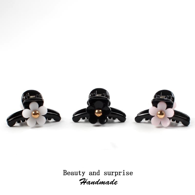 Pinza para cabello de flores elegante nueva de 4to 6cm para niñas mujeres niños horquilla broche de cabello cangrejo Pinza para el pelo accesorios Coreanos