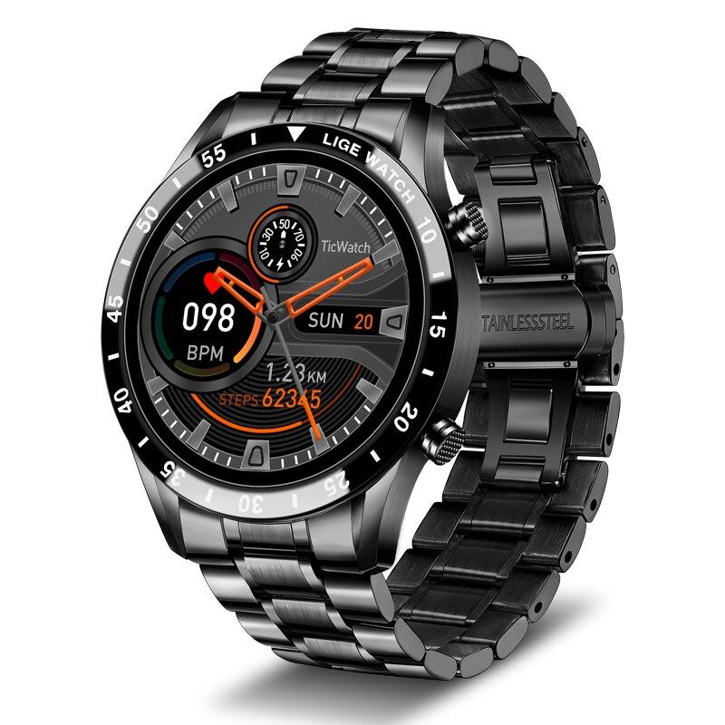 ييج 2021 جديد الرجال ساعة Bluetooth ذكية مكالمة ووتش IP67 للماء الرياضية معدل ضربات القلب اللياقة البدنية الساعات لالروبوت IOS Smartwatch