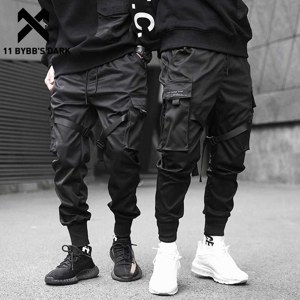 11 BYBB'S DARK Men Joggers Pants Multi-pocket Elastic Waist Harem Pants Men Hip Hop Streetwear Sweatpants Pencil Pants Techwear