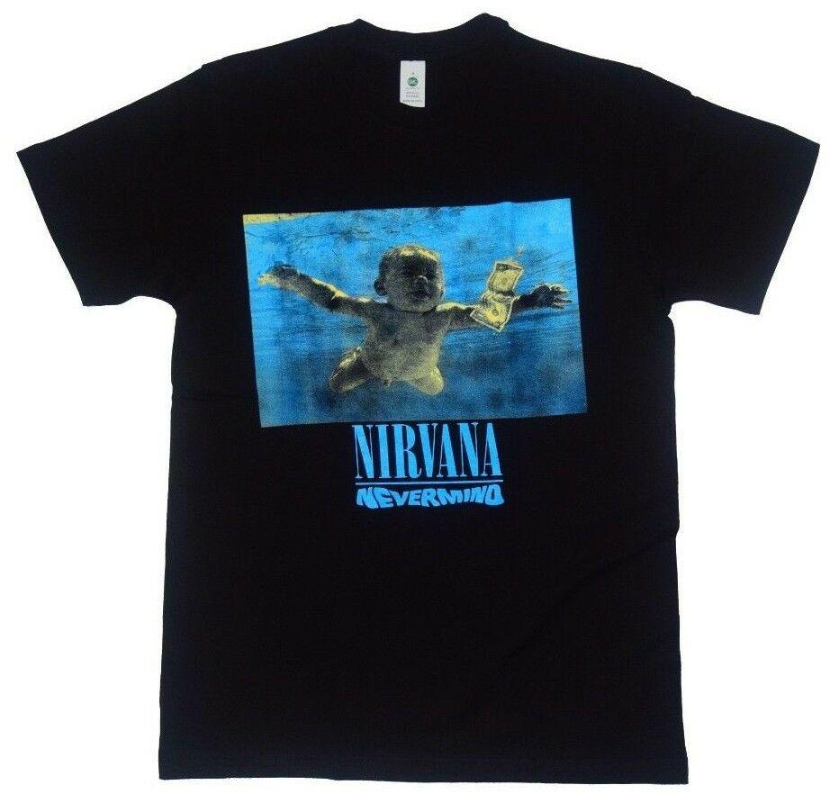 Novedosa camiseta para hombre de Nirvana Nevermind, camiseta Rock con banda para hombres